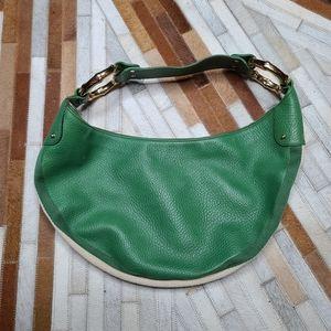 Gucci Green Leather Hobo Shoulder Bag